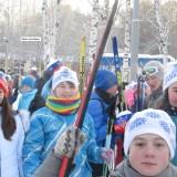 Благодарим всех  учащихся и учителей, принявших участие в Лыжне России-2014!